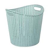 LoKauf Rattan Wäschekorb mit Henkel Plastik Wäschetonne Wäschesammler Laundry Baskets