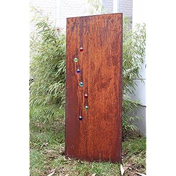garten sichtschutz aus metall rost gartenzaun gartendeko edelrost sichtschutzwand. Black Bedroom Furniture Sets. Home Design Ideas