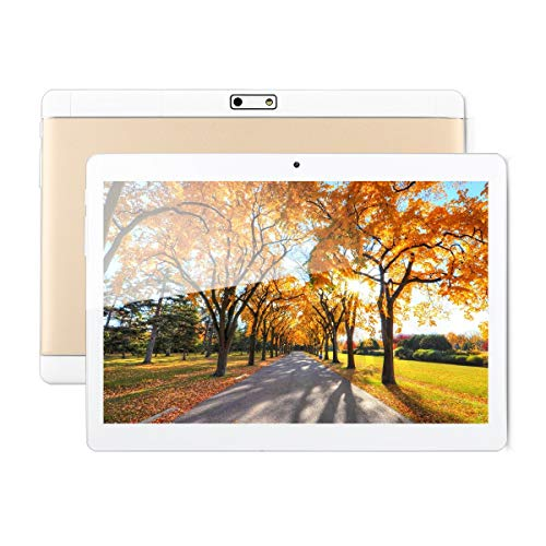 Excelvan 【10.1 Zoll Android 6.0 3G Phablet】 F888 - Dual SIM 2GB RAM 32GB ROM MTK6580 A7 Quad Core 1.5GHz, Dual Kameras 4500mAh, 800 * 1280 Pixel(golden)