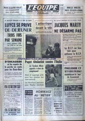 EQUIPE (L') [No 6227] du 06/04/1966