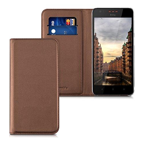 kwmobile HTC Desire 530 Hülle - Kunstleder Handy Schutzhülle - Flip Cover Case für HTC Desire 530