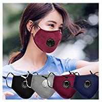 4 قطع أغطية الوجه - أغطية مضادة للغبار قابلة لإعادة الاستخدام، أغطية الغبار PM2.5 مقاومة للرياح والضباب للتلوث