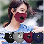 Kunyuz 4Pcs Face Coves - Reusable Dustproof Covers, Dust Covers PM2.5 Windproof Foggy Haze Pollution Respirato