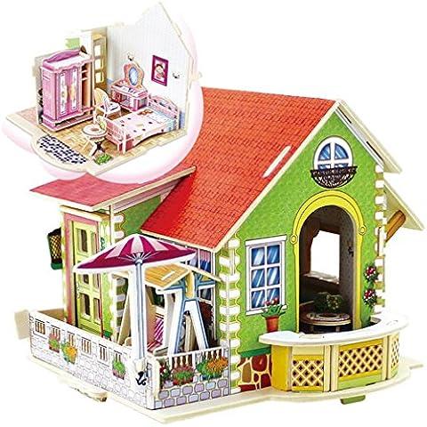 happy cherry puzzle d madera diy modelo creativo juego juguete educativo piezas para