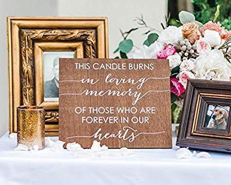 Eyrrme Gedenktafel für Hochzeit, Diese Kerze brennt in Loving Memory of Vather or Mutter, Gedenktafel für Lieben im Himmel, Gedenkkerze 861485 (Memory-mutter)
