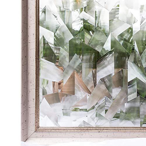 CottonColors – Filtre de fenêtre 3D anti-regards statique décoratif pour la maison, le bureau, la salle de bain, anti-UV, sans phtalates, respectueux de l'environnement (90 x 200cm)