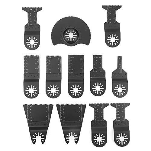 12 STÜCKE Oszillierende Sägeblätter Standard Schnellspanner Elektrowerkzeug zum Sägen Schneiden Polieren Multitool