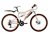 KS Cycling Vélo entièrement VTT, 26'', Bliss, Hauteur du Cadre 47 cm, Mixte, Fahrrad Mountainbike Fully 26 Zoll Bliss RH 47 cm, Blanc/Orange...