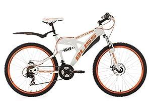 KS Cycling Fahrrad Mountainbike Fully 26 Zoll Bliss RH 47 cm Weiß-Orange,