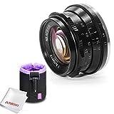 7artisans 35mm F1.2 APS-C Grande ouverture Objectif fixe manuel pour Sony E-Mount Caméras avec objectif Caden Pouch Sac avec Jyphoto Chiffon