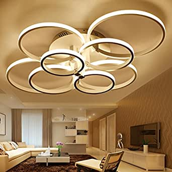 Weiting super mince circle rings lampe lustre plafonnier for Luminaire de salon moderne