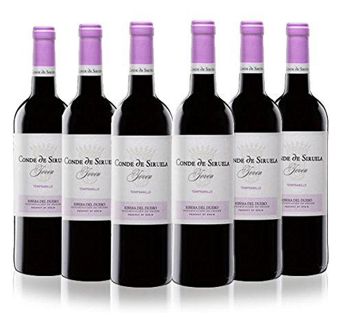 San Jamón Conde De Siruela Joven Vino Tinto Ribera Del Duero - Paquete De 6 X 750 Ml - Total: 4500 Ml