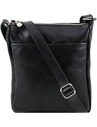 Tuscany Leather - Jason - Sac bandoulière en cuir - Noir - Homme