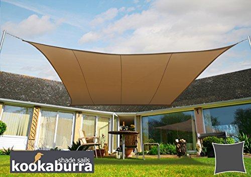 Voile d'Ombrage Mocha Carré 3,6m - Imperméable - 160g/m2 - Kookaburra