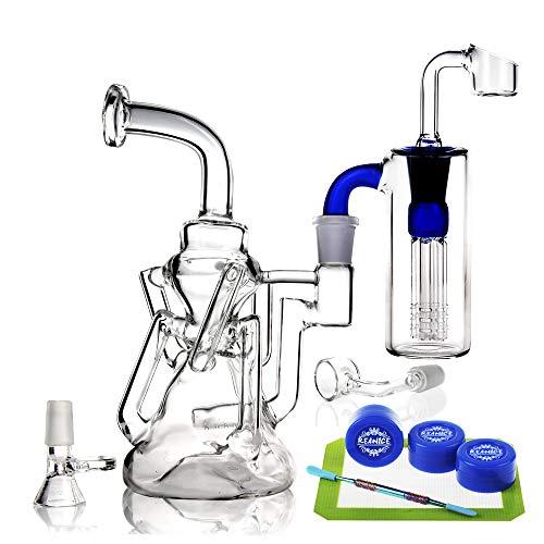 REANICE (RIVERS D) Recycler Glas Bongs wasser bong rauchen wasserpfeife 14.5mm bong schüssel höhe 13cm direkt glas rohre honigwabe zweig bongwasser bohrinseln pfeife