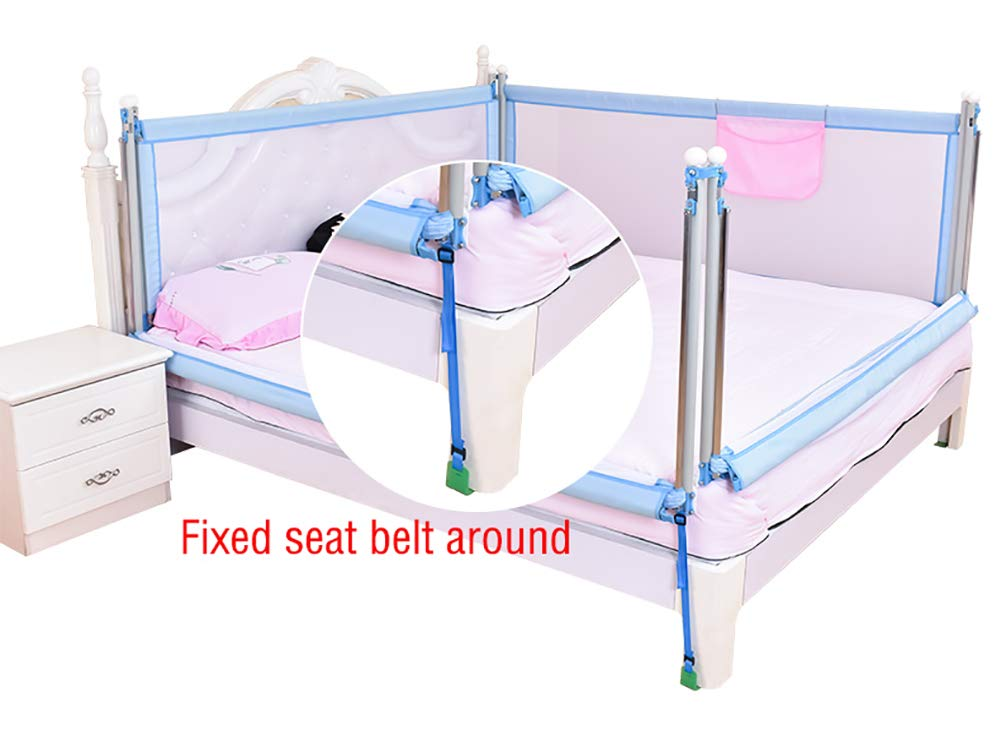 Baby Playpen Play Fence Anti-collision Bed Rail Guard for Toddlers for King Size Bed, Blue Extra Long Baby Safety Bedrail for Twin Bed (4 Pack) (Size : 2x2M)  YXX