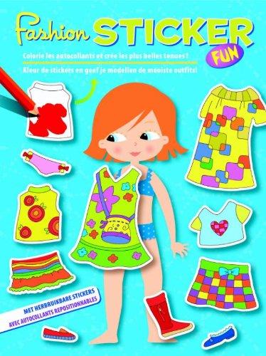 / druk 1: colorie les autocollants et cree les plus belles tenues! = Kleur de stickers en geef je modellen de mooiste outfits: ... je modellen de mooiste outfits (Model Studio) ()