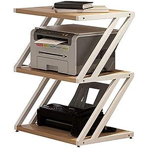 Home Druck Shelf Multi-Schicht-Studie Regal Schreibtisch Regal Küchenplaner Dokumenten-Storage Rack Pet Supplies (Farbe: Holz Farbe, Größe: 44 * 32 * 61.5Cm)