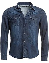 BLZ jeans - Chemise en jean bleu foncé