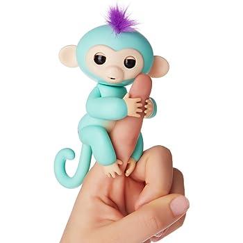 Fingerlings ouistiti turquoise bébé singe interactif de 12cm