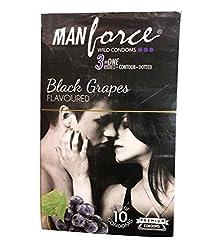 Manforce Black Graps Condom (10s)