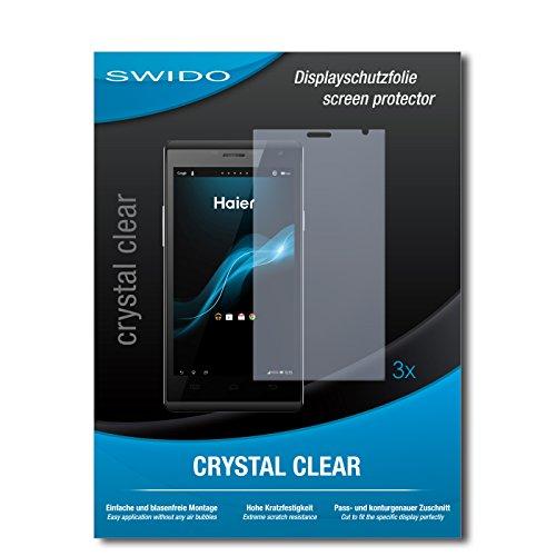 SWIDO Bildschirmschutzfolie für Haier Phone W858 [3 Stück] Kristall-Klar, Extrem Kratzfest, Schutz vor Öl, Staub & Kratzer/Glasfolie, Bildschirmschutz, Schutzfolie, Panzerfolie