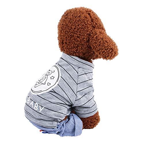 CLLUZU Haustier-Kleidung Hemd-Overall-Mode-Kostüm-klassisches niedliches Muster-Strickjacke-Kleid für alle Jahreszeit