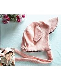 HuntGold Mignonne Oreille Longue Lapin Bonnet Chapeau Casquette pour Bébé Rose