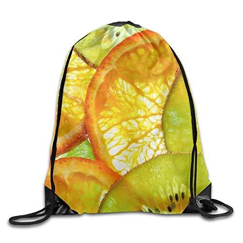 ZHIZIQIU Drawstring Bags Bulk Kiwi Orange Fruit 5k Wallpaper Drawstring Backpack Bag Shoulder Bags Bag for Adult Size: 4133cm (Wallpaper Orange Halloween)