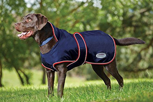 Weatherbeeta Windbreaker 420D with Belly Wrap Dog Jacket 65cm Navy/Red/White -