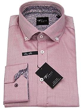 Venti Herren Hemd Slim Fit Button Down Print rot 162542900 400