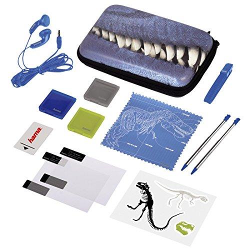 Hama Zubehör-Set für Nintendo 3DS XL, 13-teilig, T-Rex (inkl. Tasche, Schutzfolien, Kopfhörer, Stifte u.v.m.)