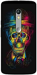 Snoogg Skull Blurry Designer Protective Back Case Cover For Motorola Moto X Play