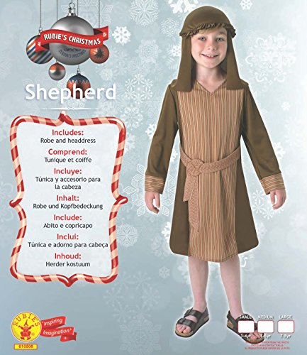 Rubie' s–Costume da ufficiale pastore presepe di Natale, bambino, età 5–6