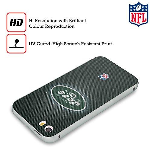 Ufficiale NFL Pattern 2017/18 New York Jets Logo Argento Cover Contorno con Bumper in Alluminio per Apple iPhone 6 Plus / 6s Plus LED