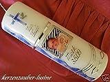Taufkerze Kommunionkerze Junge Mädchen mit Foto 250/70 mm T-186 inkl. Beschriftung