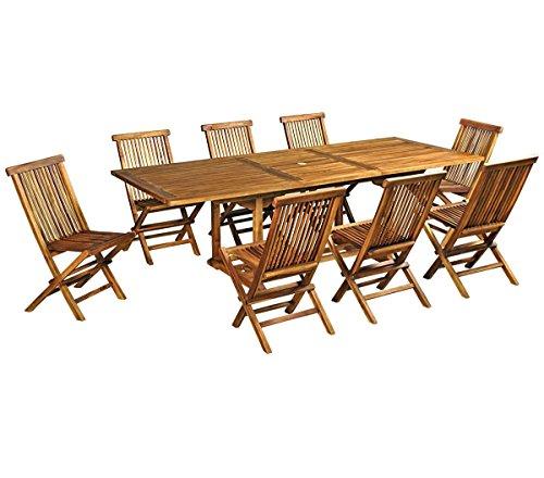 Wood-en-Stock Gartenmöbel, Teak geölt für 8Personen 180-240cm