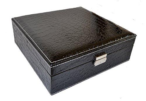 Schmuckkasten, Kunstleder, schwarz