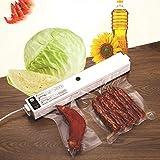 Lebensmittel-Vakuum-Dichtungssystem Lagerschälter Küchendichtmaschine, Automatische Vakuum-Siegel & Weld Keep Foods Fresh Up mit 10pcs Dichtungsbeutel,Black