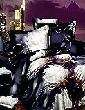 Tipo: Copripiumino set,Dimensioni biancheria da letto: Matrimoniale,Dimensioni: Regina,Fantasie: 3d,Materiale: poliestere/cotone,Materiale del retro: Poliestere/Cotone,Tipo di tessitura: tinta unita,Artigianato: Stampa reattiva,Impostare Size: 4pezz...