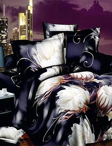 LIANGTT Vier Sätze Bettwäsche, 3D-Design-Muster gedruckt 4pcs Bettwäsche-Sets Tröster setzt Queen-Size Bettbezug Bettlaken -