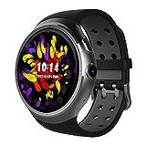 Diggro DI06 Smartwatch 1GB + 16GB WIFI GPS Bluetooth 4.0 MTK6580 3G WCDMA 1.0GHZ Cuádruple RAM / ROM 2.0MP Inteligente reloj Cámara Nano-SIM Tarjeta 1.39inch AMOLED Llamando Monitor de Frecuencia Cardíaca Pedometer Tiempo Salud Recordatorio para Android y IOS (negro)
