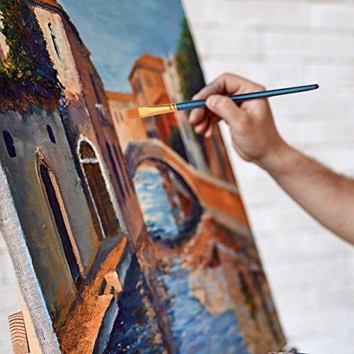 Ensemble De Pinceaux De Peinture Artiste Aquarelle Avec Manche Bois