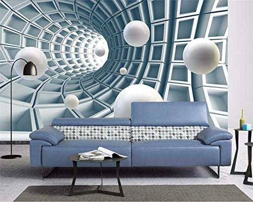 Fototapete Vlies Tapete Moderne Wanddeko Design Tapete Wandtapete Wand Dekoration Stereo Abstract Tunnel Space Ball, 260 × 254 cm - 1982 Auto Stereo