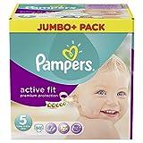 Pampers attiva Fit Taglia 5 junior 11-25kg Jumbo Plus Pack (1 x 60 pannolini)