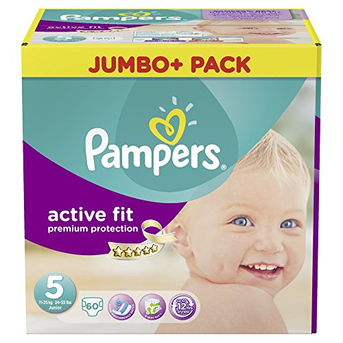 Pampers Active Fit gr.5 Junior 11-25kg Jumbo Plus 60 St