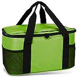 noorsk Kühltasche 20 Liter Einkaufstasche Strandtasche Picknicktasche Kühlbox Picknickkorb in vielen Farben - lime