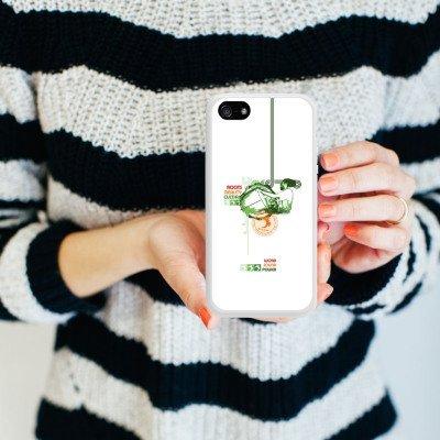 Apple iPhone 4 Housse Étui Silicone Coque Protection Jamaïque Peace Rasta Housse en silicone blanc