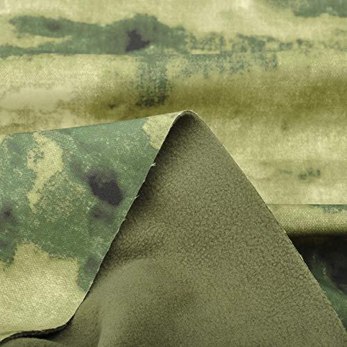 A-TACS FG Camouflage Winddicht Antisprinkling schnell trocknend taktische Softshelljacke Stoff (Tac Stoff)