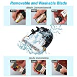 Dog Grooming Clippers, Focuspet 2 Speed Adjustable Dog Clippers Rechargeable Cordless Low Noise Dog Clippers Kit… 10